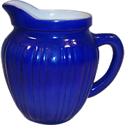 Hazel Atlas Gay Rainbow Blue Milk Pitcher