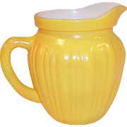 Hazel Atlas Gay Rainbow Yellow Milk Pitcher