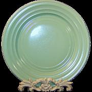 "Hazel Atlas Moderntone 8 7/8"" Pastel Green Dinner Plate"
