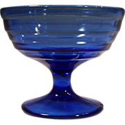Hazel Atlas Moderntone Cobalt Blue Sherbet