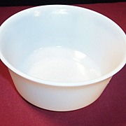 "Hazel Atlas Moderntone 5"" Flared White Platonite Bowl"
