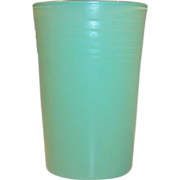 Green 5 oz. Hazel Atlas Rainbow Juice Tumbler
