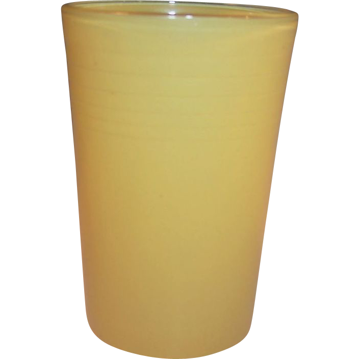 Yellow 5 oz. Hazel Atlas Rainbow Juice Tumbler