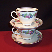 Homer Laughlin 1940's Bristol Cup & Saucer Sets