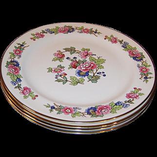 "SET of 4:  Excellent 10 1/8"" Homer Laughlin Bristol Dinner Plates"