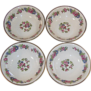 1940's Homer Laughlin Bristol SET of 4 Fruit ( Dessert) Bowls