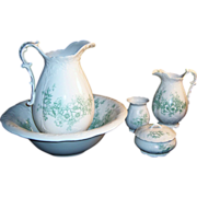 Antique Homer Laughlin Bridal Bowl Pitcher Bath Set