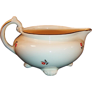 Homer Laughlin / Cunningham Pickett Double Stamped & Gold Trimmed Cardinal Creamer
