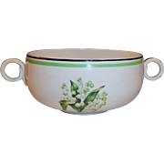 Homer Laughlin: SWING Lily of the Valley Cream Soup Bowl