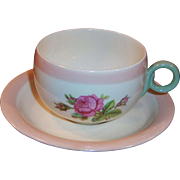 Homer Laughlin Swing Moss Rose Cup & Saucer