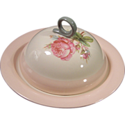Homer Laughlin Moss Rose Covered Muffin / Pancake Server