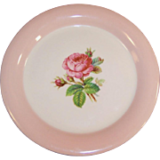 "Homer Laughlin Swing Moss Rose 6 1/8"" Dessert Plate"