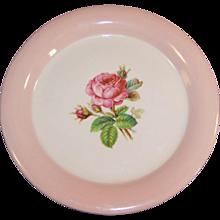"""Homer Laughlin Swing Moss Rose 6 1/8"""" Dessert Plate"""