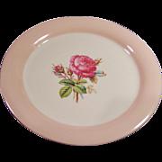 """Homer Laughlin Swing Moss Rose 8 1/8"""" Plate"""