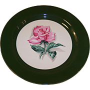 "Homer Laughlin Rhythm Rose 7 1/4"" Plate"