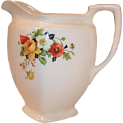 Large Poppy & Rose Quart Pitcher