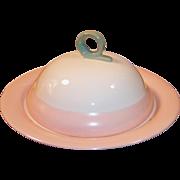 Homer Laughlin Swing Pink Organdy Muffin / Pancake Server