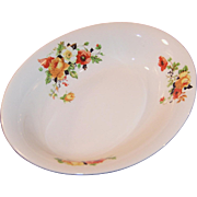 Homer Laughlin Poppy & Rose Oval Serving Bowl