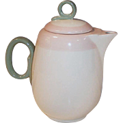 Homer Laughlin Pink Organdy Swing Miniature Coffee or Tea Pot