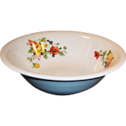 Large & Deep Serving Bowl Homer Laughlin Poppy & Rose