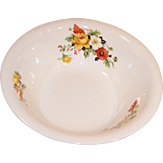 Large & Deep Serving Bowl Homer Laughlin Poppy & Rose (Imperfect)
