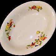 Homer Laughlin Poppy Rose Oval Serving Bowl