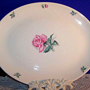 "Homer Laughlin China Co.,  13 1/2""  Rhythm Rose Platter"