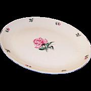 LARGE Homer Laughlin China Rhythm Rose Turkey Platter