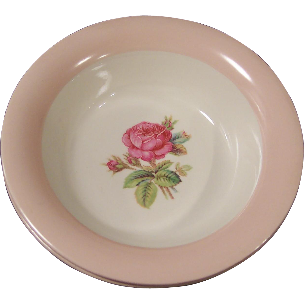 Homer Laughlin Swing Moss Rose Cereal Bowl (2 Available)