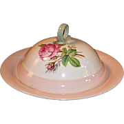 Homer Laughlin Swing Pink Organdy Muffin / Pancake Server Set