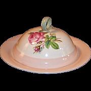 Homer Laughlin Swing Pink Organdy Muffin / Pancake Server Set