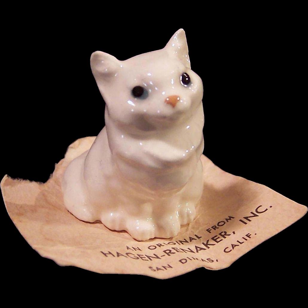 Hagen Renaker Miniature Persian Cat Figurine from ruthsredemptions