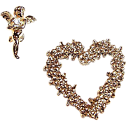 Valentine's Day Heart & Cupid Scatter Pins