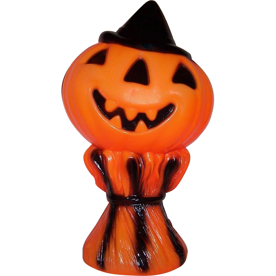Vintage Halloween Light Up Blow Mold Jack-O-Lantern Pumpkin Empire Plastic