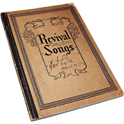 """Revival Songs Hymnal"" Published 1929; Coleman"