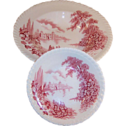 "Johnson Brothers: ""Castle on the Lake""  Fruit and Soup Bowls"