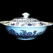 J & G Meakin Blue Nordic Covered Vegetable Bowl