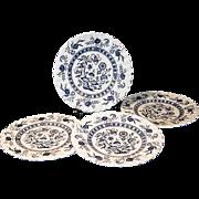 "Set of 4: J & G Meakin Blue Nordic 7""  Plates"