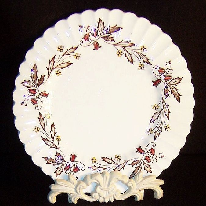 "SET of TWO:  J & G Meakin Hampton Court 8"" Plates"