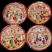 "Vintage Geisha Girl Asian 5 1/2"" Saucers"
