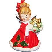 Josef Originals Christmas Angel  &  Wreath Bell