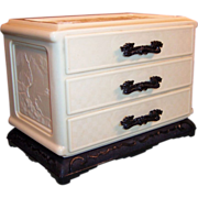 Asian Celluloid Jewelry Box