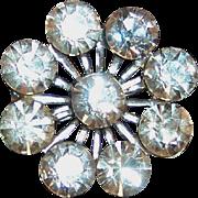 Sparkling Clear Rhinestone Brooch