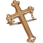Miniature Doll or Child's Cross Pin