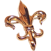 12 KT Gold Filled Fleur De Lis Watch Pin
