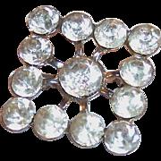 Vintage Square Rhinestone Pin