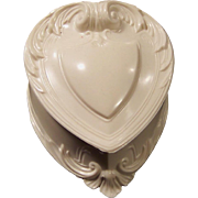 Vintage Heart Shaped Ring Keepsake Box