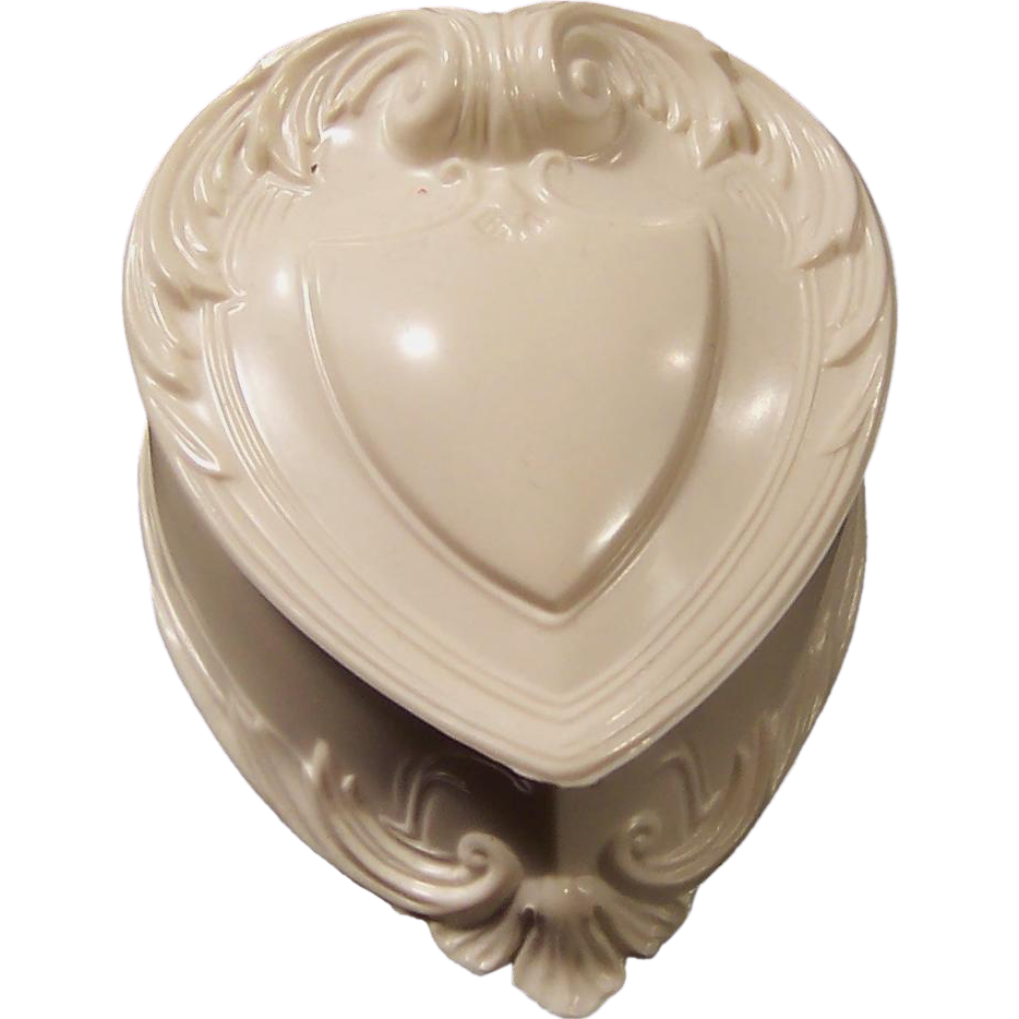 Vintage heart shaped ring keepsake box from for Heart ring box