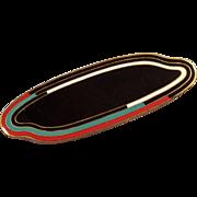 Clear Coated Art deco Enamel Pin