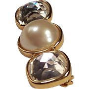 Vintage Marvella Simulated Pearl Bar Pin